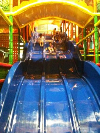 Giant Slide at Fidgets Indoor Playgroun