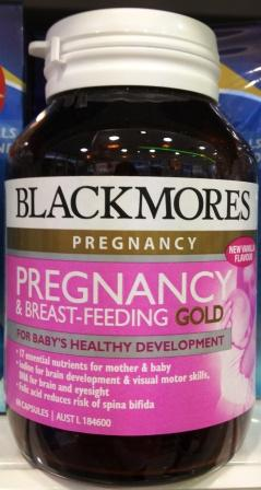 Best Prenatal Vitamin Blackmores Pregnancy Breastfeeding Gol