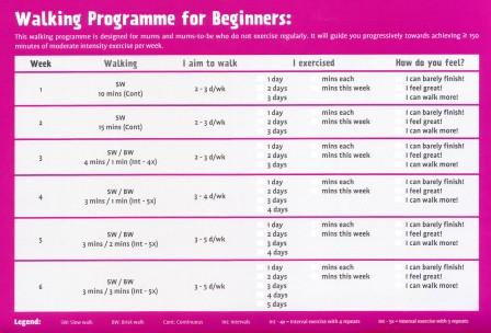 Walking programme for Beginners