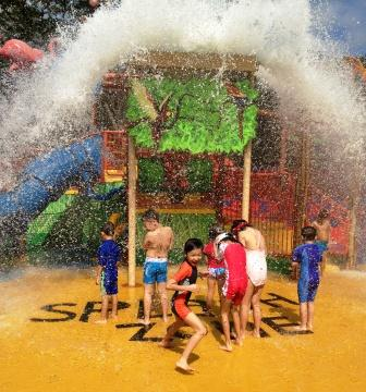 Kids at play in the Singapore Zoo